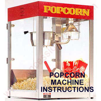 popcorn maker machine instructions